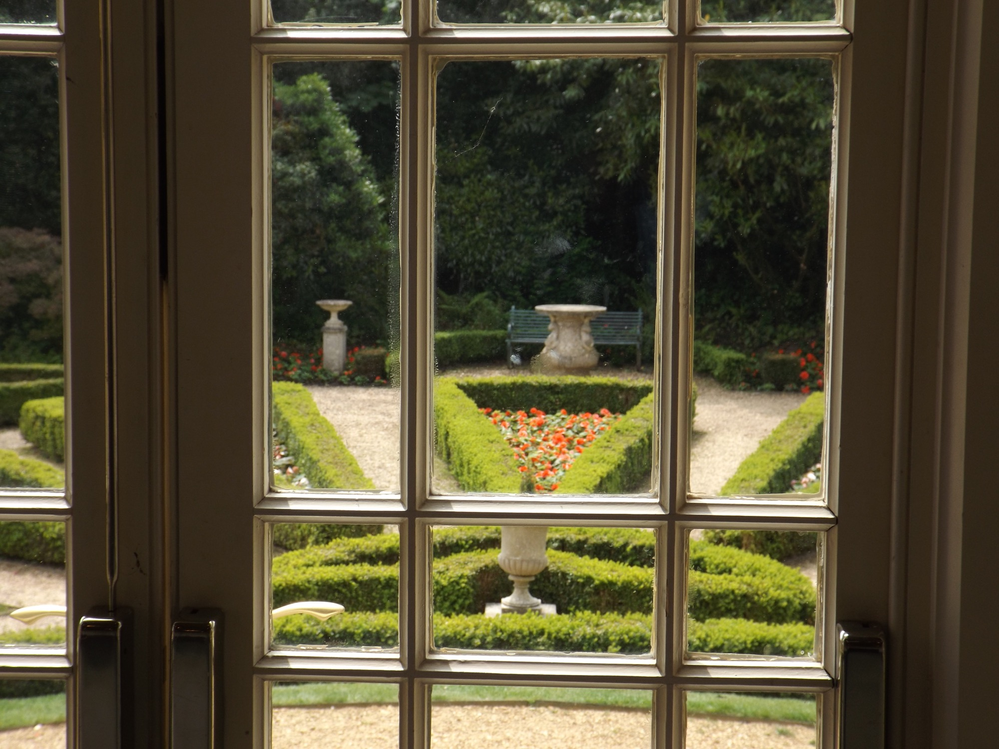 A view of the garden today