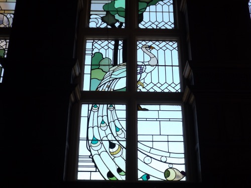 Part of the entrance hall window