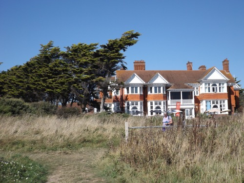 The Beach House seen from the coast path