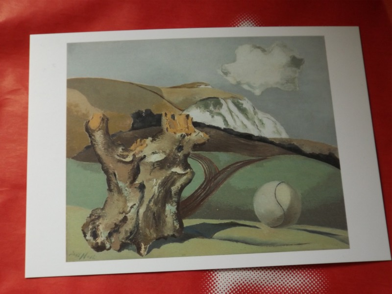 Exhibition souvenirs include a post card reproduction of Event on the Downs 1934